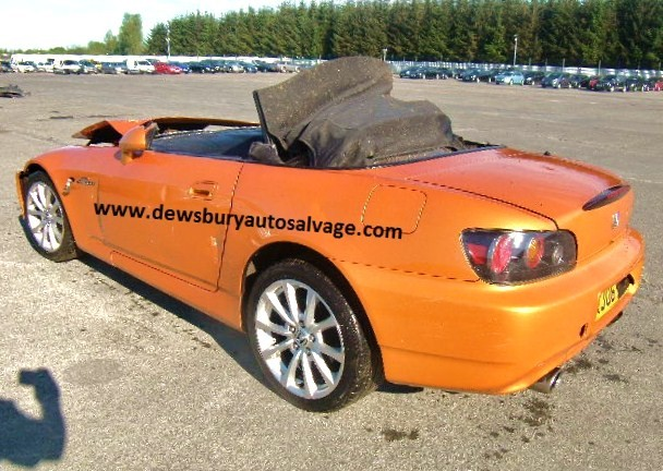 HONDA S2000 2000 CC 6 SPEED MANUAL 2 DOOR 2006 BREAKING SPARES NOT SALVAGE