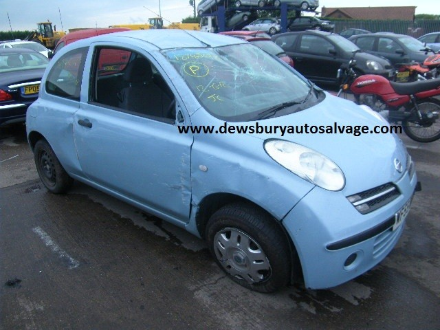NISSAN MICRA 1200 CC 5 SPEED MANUAL PETROL 3 DOOR HATCHBACK 2005 BREAKING SPARES NOT SALVAGE