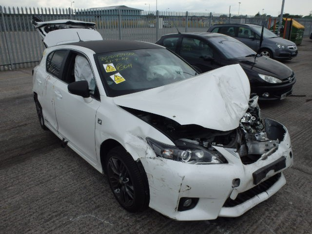 lexus ct200 h f sport cvt white automatic airbags engine breaking spares parts door. Black Bedroom Furniture Sets. Home Design Ideas