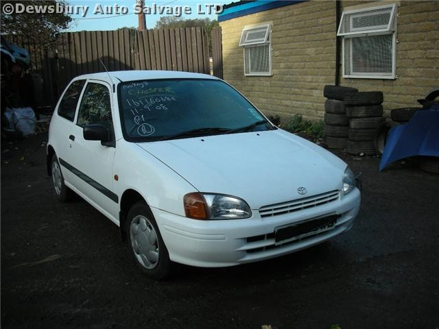 TOYOTA STARLET  1300 1998 WHITE Manual Petrol 3Door