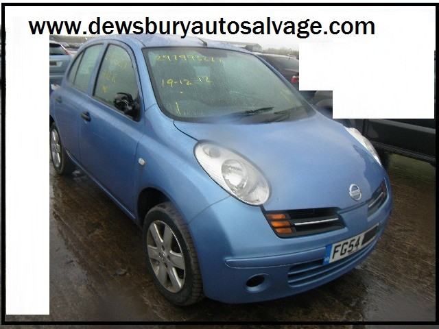 NISSAN MICRA SPORT 1200 CC 5 SPEED MANUAL PETROL 5 DOOR HATCHBACK 2004 BREAKING SPARES NOT SALVAGE