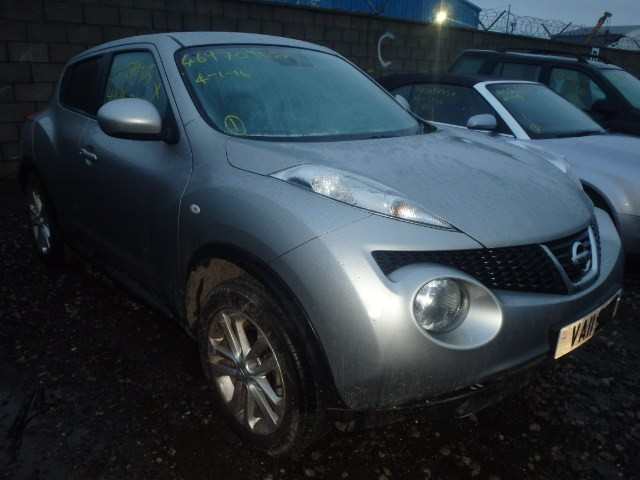 NISSAN JUKE ACENTA SPORTS 1600 CC SILVER PETROL HATCHBACK BREAKING SPARES NOT SALVAGE 2011