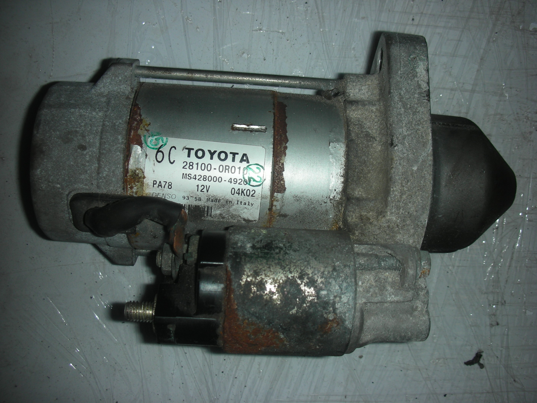 TOYOTA RAV-4 2200 CC DIESEL MANUAL STARTER MOTOR 2008-2009.