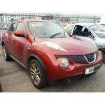 NISSAN JUKE ACENTA 1600 CC PETROL RED BREAKING SPARES NOT SALVAGE 2011