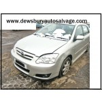 TOYOTA COROLLA 2000 CC T3 5 SPEED MANUAL 5 DOOR HATCHBACK 2006 BREAKING SPARES NOT SALVAGE