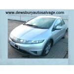 HONDA CIVIC SE I-VTEC 1600 CC SILVER BREAKING SPARES NOT SALVAGE 5 DOOR HATCHBACK 2006