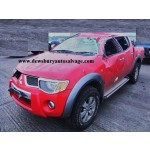MITSUBISHI L200 DID 2500 2007 RED TURBO DIESEL 4 DOOR RAGING BULL