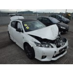 LEXUS CT 200H 200 H CT200 WHITE F SPORT CVT HYBRID ELI BREAKING SPARES NOT SALVAGE 5 DOOR AUTO 2012