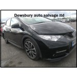 HONDA CIVIC 2200 CC I-DTEC EX-GT BLACK BREAKING SPARES NOT SALVAGE 5 DOOR HATCHBACK 2012