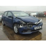 TOYOTA AURIS 1200 CC I-CON 6 SPEED MANUAL PETROL BLUE 5 DOOR HATCHBACK 2017.