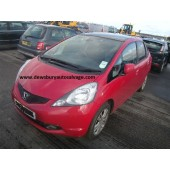 HONDA JAZZ 1400 CC PETROL RED BREAKING SPARES NOT SALVAGE 5 DOOR HATCHBACK 2009