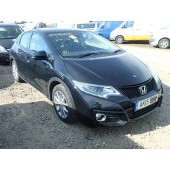 HONDA CIVIC 1600 CC i-DTEC SE PLUS BLACK 6 SPEED MANUAL DIESEL BREAKING SPARES NOT SALVAGE 2015