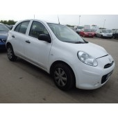 NISSAN MICRA VISIA 1200 CC MANUAL PETROL HATCHBACK 2012 BREAKING SPARES NOT SALVAGE