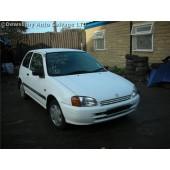 TOYOTA STARLET  1300 1998 WHITE Manual Petrol 3Door