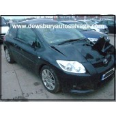 TOYOTA AURIS SR D-4D  2000 CC 6 SPEED MANUAL DIESEL BLACK 3 DOOR HATCHBACK 2008.