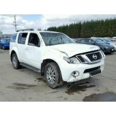 NISSAN PATHFINDER WHITE 2500 CC DIESEL ESTATE BREAKING PARTS 6 SPEED MANUAL 2010